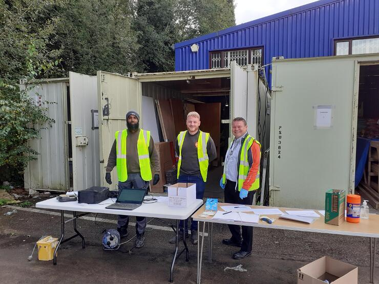 Here are some of our hard working team at Health and Safety week.